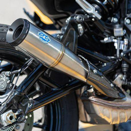 Air Intake Systems >> S&S Cycle Grand National slip on Exhaust Indian FTR 1200