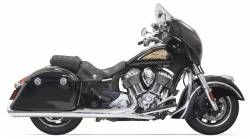 "Bassani Xhaust - Bassani Xhaust 4"" Performance Slip-On Mufflers With Polished End Cap"
