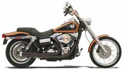 Bassani Xhaust - Bassani Xhaust Road Rage 2 into 1 Systems - EXHST RR2-1UP 06-11FXD BK