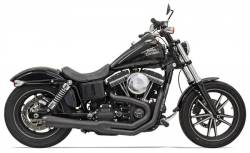 Bassani Xhaust - Road Rage II Mega Power Systems - EXHAUST 2-1MEGA FXD BLK