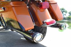 Fuel Moto - Fuel Moto E-Series Chrome FLH Slip On Mufflers
