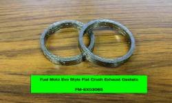 Fuel Moto - Fuel Moto Twin Cam Flat Crush Exhaust Gaskets (Pair)