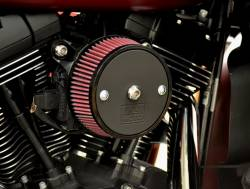 Fuel Moto - Fuel Moto Pro Billet Stage 1 Air Cleaner - FLH Throttle by Wire Models (Aluminum)