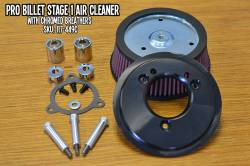 Fuel Moto - Fuel Moto Pro Billet Stage 1 Air Cleaner - FLH Throttle by Wire Models (Chrome)