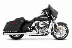 Rinehart - Rinehart - Touring 2-into-1 System Black with Chrome End Cap