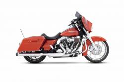 "Rinehart - Rinehart - Touring 3.5"" Slip-On Mufflers Chrome with Black End Caps"