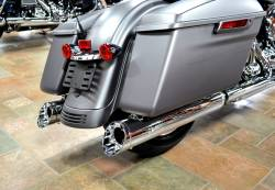 Jackpot - Jackpot Hi Roller Slip On Mufflers - Chrome with Chrome Slash End Caps Twin Cam