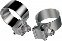 Fuel Moto - Stainless Steel Replacement Muffler Clamps - Pair