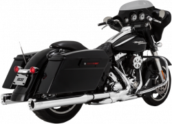 Vance & Hines - Vance & Hines - Eliminator 400 Slip-On Mufflers Chrome with Chrome End Caps