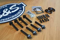 S&S Cycle - M8 Combo Pack - S&S Cycle Head Bolts - Rocker Studs - Billet Tappet Cuffs
