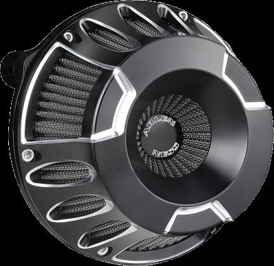 Arlen Ness - Inverted Series Air Cleaner Kits - AIR CLN DP-CUT08-14FL BL