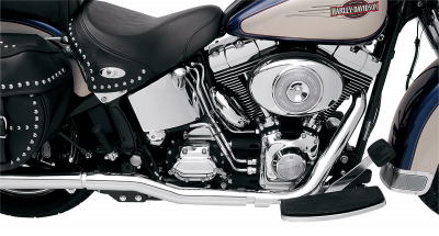 Bassani Xhaust - Bassani Xhaust Power Curve True-Duals Crossover Header Pipes For Softails - EXHAUST TRUDuals 86-06ST