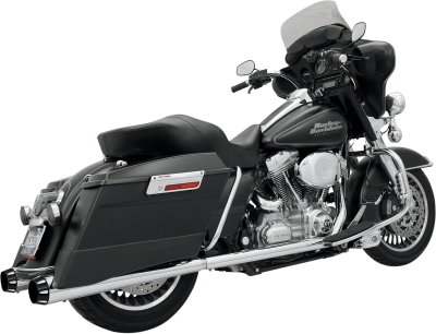 Bassani Xhaust - +P Bagger Stepped True-Duals Systems With Power Curve - EXHST TD PCRV 89-11FL BK