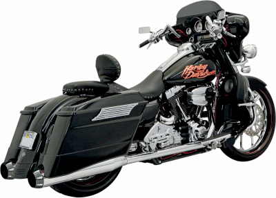 Bassani Xhaust - +P Bagger Stepped True-Duals Systems With Power Curve - EXHAUST +P B1 95-14FL CH