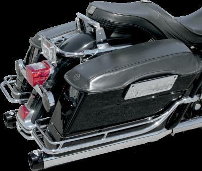 """Bassani Xhaust - Bassani Xhaust4"""" Slip-On Quick Change Series Mufflers - MUFFLERS 4 QC FL 95-14BK"""