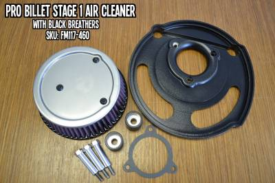 Fuel Moto - Fuel Moto Pro Billet Stage 1 Air Cleaner - Rushmore Models