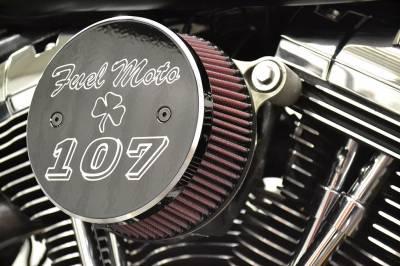 "Fuel Moto - Fuel Moto Air Cleaner Cover - 107"" Big Bore Black"