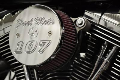 """Fuel Moto - Fuel Moto Air Cleaner Cover - 107"""" Big Bore Polished Aluminum"""