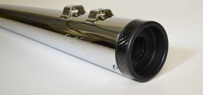 """Jackpot - Jackpot 4.5"""" Pro Touring Slip On Mufflers with Black Billet / Carbon Ring End Caps"""