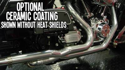 Jackpot - Jackpot 2/1/2 Stainless Steel Ceramic Coated Tri Glide Head Pipe