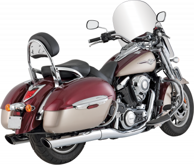 Vance & Hines - Vance & Hines - Twin Slash Round Slip-On Mufflers