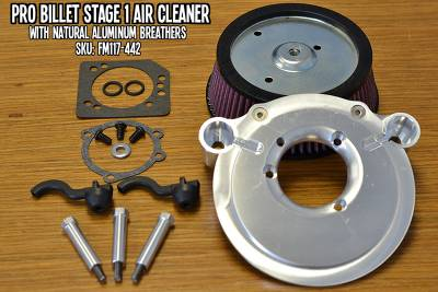 Fuel Moto - Fuel Moto Pro Billet Stage 1 Air Cleaner - Cable Operated Models (Aluminum)