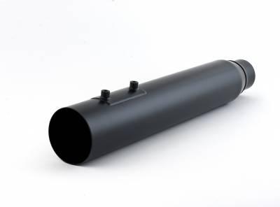 D&D - D&D - Boss Fat Cat 2-into-1 Exhaust 09-Current Straight Cut 2-1, Black, Perforated Baffle