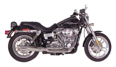 D&D - D&D - Fat Cat 2-into-1 Exhaust 08-Current FXDB/FXDWG Chrome, Perforated Wrapped Baffle