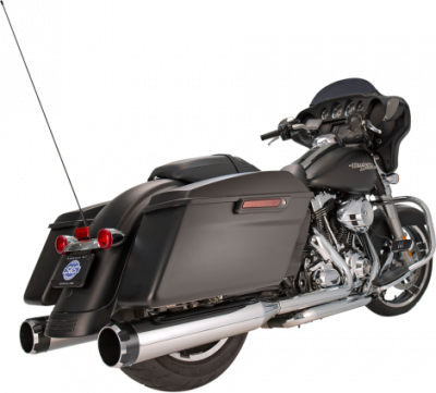 S&S Cycle - S&S Cycle - Mk45 Mufflers Chrome w/ Black Thruster End Cap