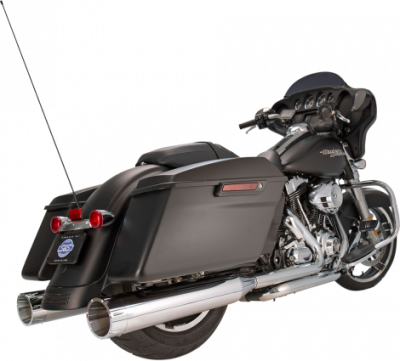 S&S Cycle - S&S Cycle - Mk45 Mufflers Chrome w/ Chrome Tracer End Caps