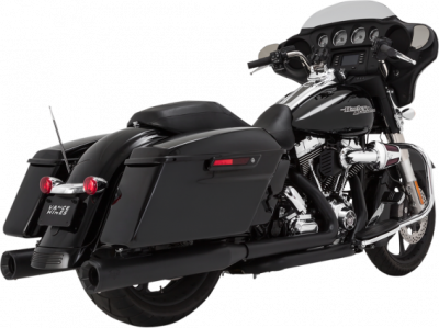 Vance & Hines - Vance & Hines - Eliminator 400 Slip-On Mufflers Black with Black End Caps