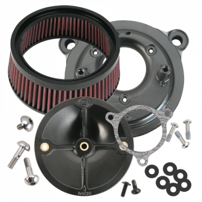 S&S Cycle - S&S Cycle Stealth Air Cleaner Kit - Without Air Cleaner Cover 08-13 Touring Models