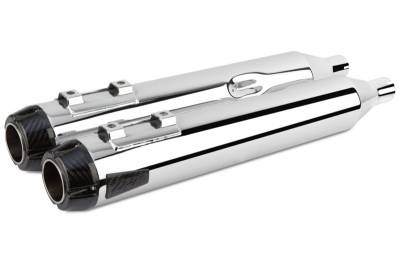 Two Brothers - Two Brothers Comp-S Chrome with Carbon Fiber End Cap Slip-On Mufflers