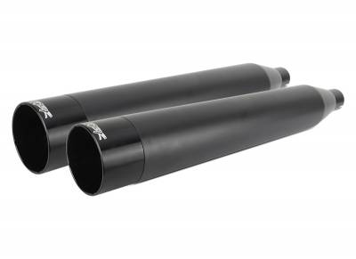 Two Brothers - Two Brothers Comp-S Black with Black Aluminum End Cap Slip-On Mufflers