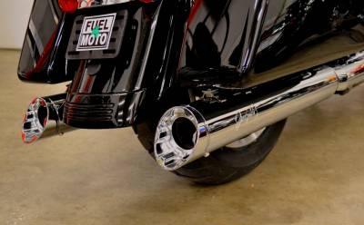 Jackpot - Jackpot Hi Roller Slip On Mufflers - Chrome with Chrome Slash End Caps Milwaukee-8
