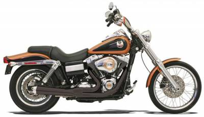 Bassani Xhaust - Bassani XhaustRoad Rage 2 into 1 Systems - EXHST RR2-1UP 06-11FXD BK