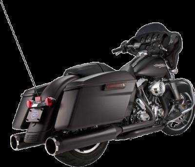 S&S Cycle - S&S Cycle - Mk45 Mufflers Black w/ Black Thruster End Cap M8