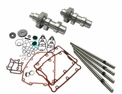 S&S Cycle - S&S Cycle 585 Easy Start Gear Drive Camshafts with Fuel Moto Install Kit