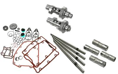 S&S Cycle - S&S Cycle 640Easy Start Gear Drive Camshafts with Fuel Moto Complete Install Kit