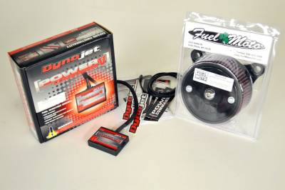 Dynojet - Dynojet - Power Commander V + Fuel Moto AC/DC Air Cleaner - 04-05 Harley Dyna