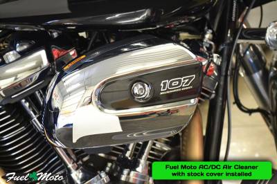 Fuel Moto AC/DC Air Cleaner with Stock Cover Installed