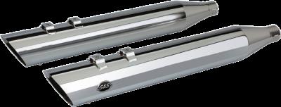"S&S Cycle - S&S Cycle 4"" Slash Cut M8 Chrome Slip On Mufflers"