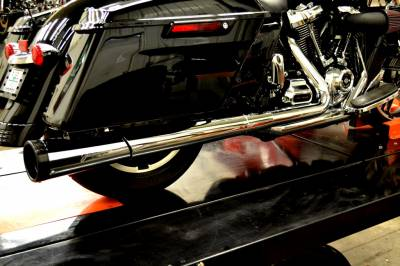 Jackpot - Jackpot M8 Road & Track 2-into-1 Exhaust System - Chrome