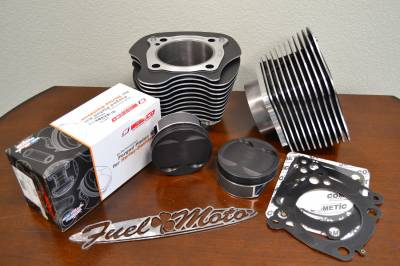 "Fuel Moto - Fuel Moto M8 128"" Piston & Cylinder Kit 10.75 Compression for 114 117 engines"