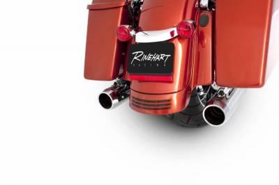 "Rinehart - Rinehart - Touring 3.5"" Slip-On Mufflers Chrome with Chrome End Caps"