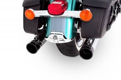 "Rinehart - Rinehart - Touring True Dual Chrome with Black End Caps (3.5"" Mufflers)"