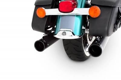 "Rinehart - Rinehart - Touring True Duals Black with Black End Caps (3.5"" Mufflers)"