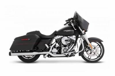 "Rinehart - Rinehart - Xtreme True Duals Black with Chrome End Caps (3.5"" Mufflers)"