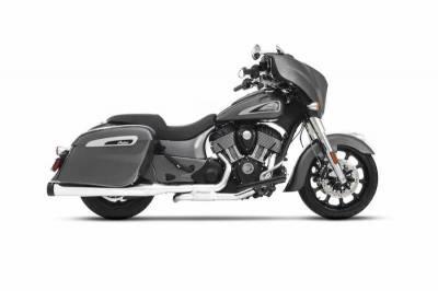 Rinehart - Rinehart Slimline Duals Header Kit Chrome For Indian Motorcycles