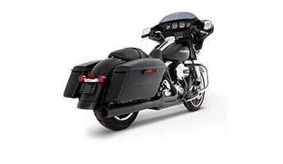 Rinehart - Rinehart 2017-Later 2-into-1 Exhaust for Harley Touring Black with Black End Cap